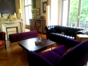 The elegant salon in our Pigalle apartment